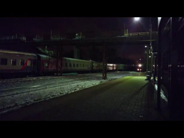 Паровоз П36-0120 с ретропоездом. Ст.Царицыно. 31.01.2017 г.