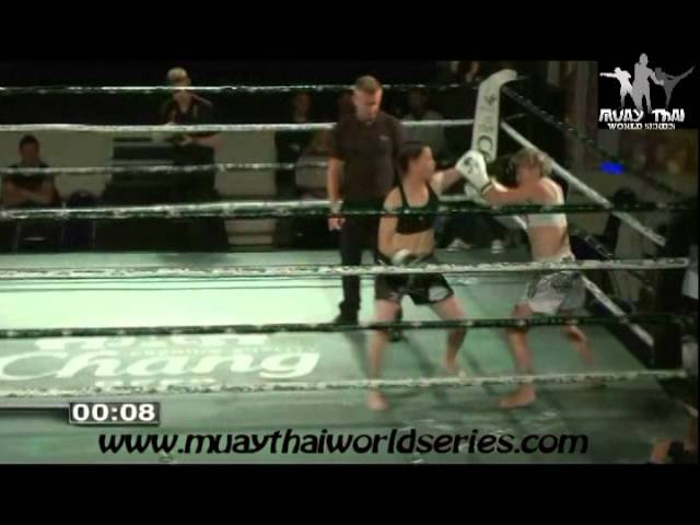 Brutal Female Muaythai Knockout
