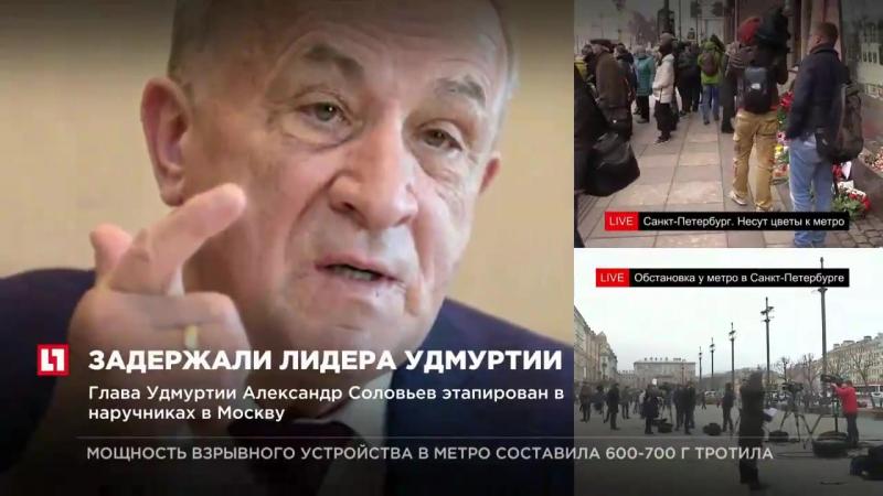 Глава Удмуртии Александр Соловьев этапирован в наручниках в Москву