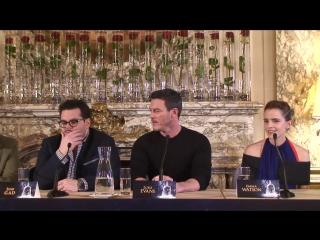 Press conference Beauty and the beast (Emma Watson,Luke Evans, Alan Menken, Bill Condon