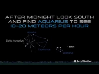 It's famous in the Southern Hemisphere, but Aquariid meteors can be seen in the Northern Hemisphere this week as well.