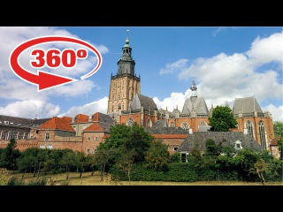 Visit the NETHERLANDS in 360º • view of historic ZUTPHEN • 360 degree travel video