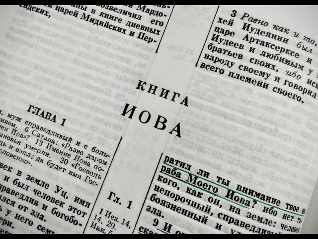 Библия. Ветхий Завет. Книга Иова