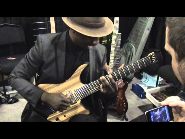 Tosin Abasi Plays Strandberg Guitarworks EGS Pro 7-String in Strandberg Booth