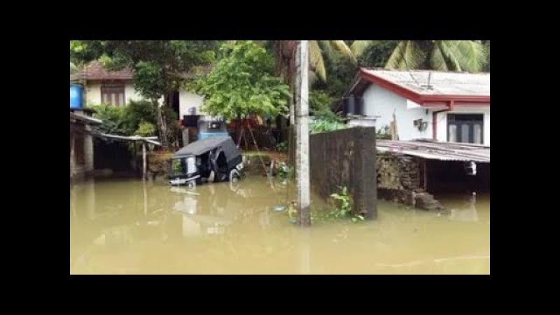 Мощное наводнение на Шри Ланке. Powerful flood in Sri Lanka.