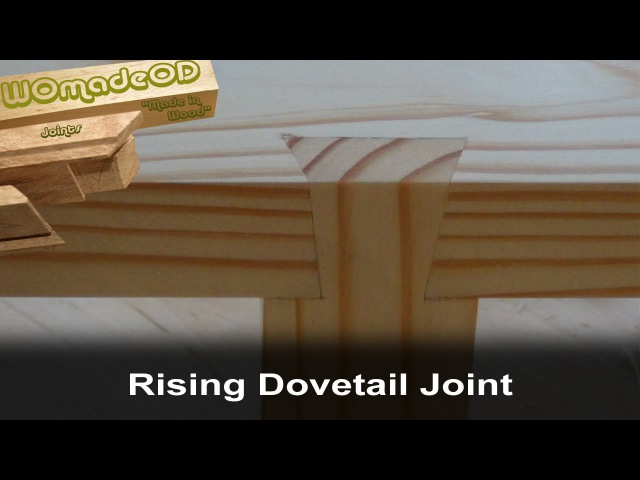 Rising Dovetail 'Half Sumiyoshi' Joint 'Impossible Dovetail'
