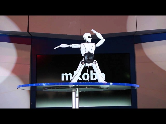 MRobo dancing Gangnam style at CEATEC 2012