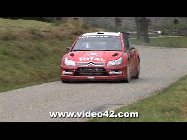 Sébastien Loeb test Citroën C4 WRC pré-Monté Carlo 2007