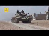 من معارك الجيش السوري على الحدود الادارية لمدينة الرقة مع تنظيم داعش