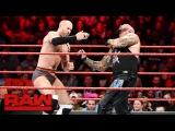 Cesaro vs. Luke Gallows Raw, Jan. 23, 2017