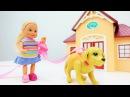 Барби и Штеффи везут собаку к ветеринару. Доктор делает УКОЛ. Игры Барби для дев