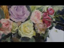 Pomegranates flowers oil painting part 4