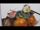 Pomegranates flowers oil painting part 2