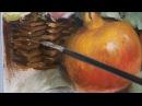 Pomegranates flowers oil painting part 3