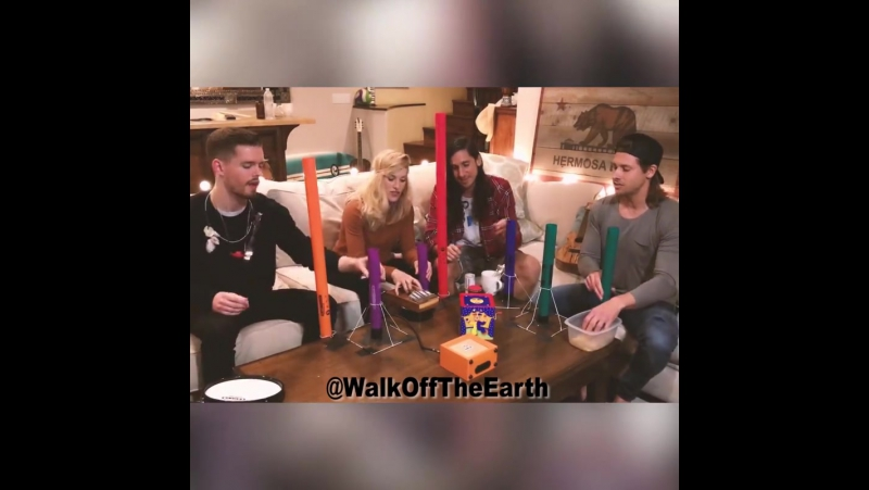 Wonderful Shape Of You cover by Walk Off The Earth, Myles Erlick and Stars Academy Talent
