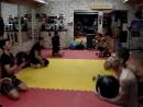 Воскресная тренировка в спортивном клубе ЗЕВС часть 2 и 3 Работа с гантелями и на резинке