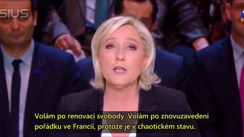 Francouzská prezidentská debata 20.3. 2017 - sestřih [cz titulky]