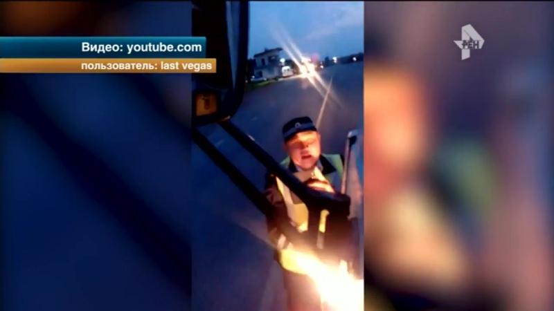 В Башкирии вспыльчивый дальнобойщик поругался с дорожными инспекторами
