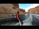 GoPro Awards- College Team Wakeboard Tricks on Lake Powell