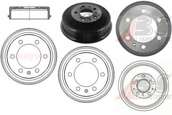 Тормозной барабан для ALFA ROMEO AR 8 фургон (280)