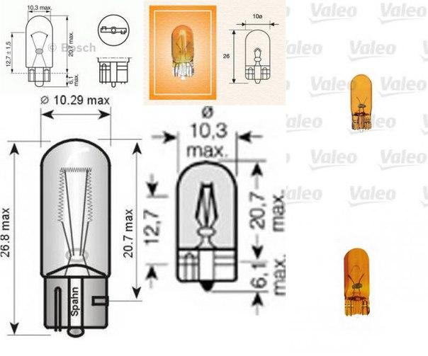 Лампа накаливания, стояночный / габаритный огонь для ALFA ROMEO MITO (955)
