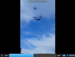 Полёт на дроне в гамаке