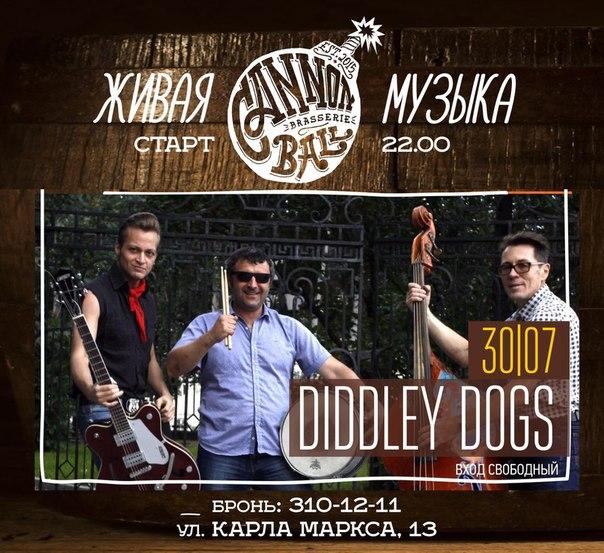 30.07  Diddley Dogs в баре Cannonball Brasserie!