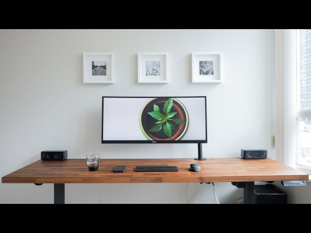 DIY Dream Desk Setup - Clean Modern Wood Design