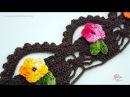 Barrado de Crochê Cestinha - Aprendendo Crochê