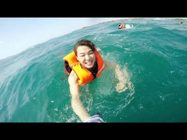 [ENG SUB] RM Teaches BTS How To Avoid Sharks | BTS Rides Banana Boat