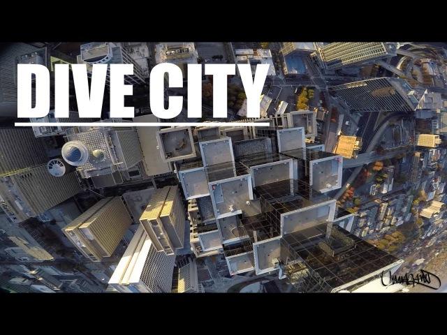 Дайв на квадрокоптерах вокруг небоскребов от группы Rottor Riot