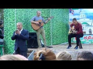 Курсант классно поёт на дне города Вольска.10 сентября 2016 года.