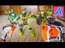 Все Lego Bionicle уничтожены из Nerf бластеров Обзор Нерф бластеров Strongarm и Triad EX3