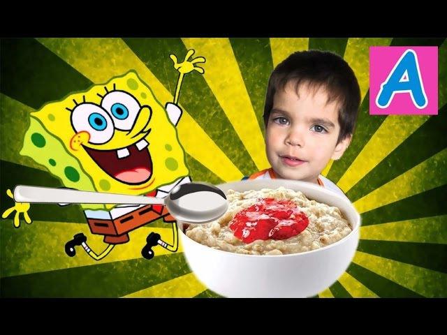 Вредные детки кушаем кашу со спанч бобом Bad kids eat porridge with sponge bob