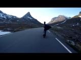 Спуск на лонгборде (Норвегия)