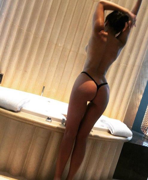 Hot chick got nylon hose overspread tits