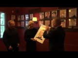 Richard and Cate unveiling their caricatures at Sardi's Restaurant 14.03.2017