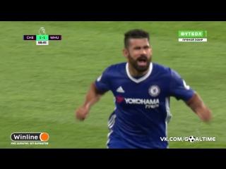 Челси - Вест Хэм 2:1. Коста