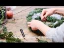 Современная флористика: рождественский венок из нобилиса