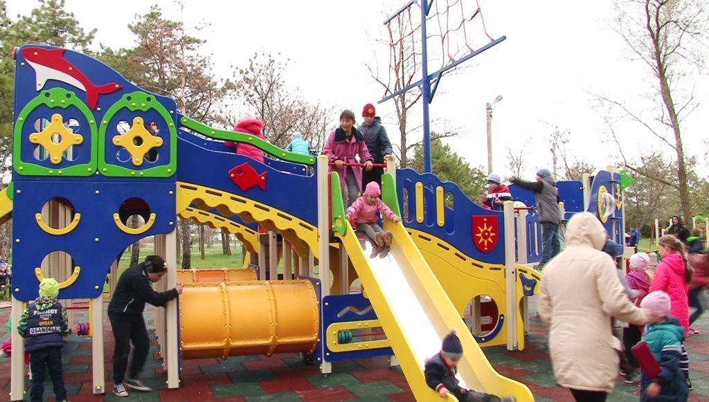 В Армянске открылся спортивно-игровой комплекс в парке Победы