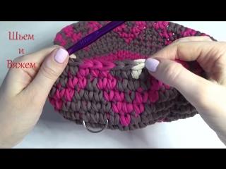 Рюкзак из трикотажной пряжи с жаккардовым узором. вязание крючком. backpack knitted of yarn (1)