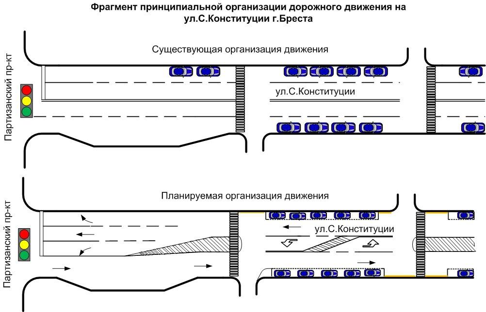 Внимание: изменения в организации дорожного движения на ул.Советской Конституции