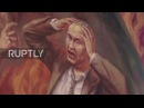 Ukraine: St. Josaphat Church displays image of Putin burning in Hell