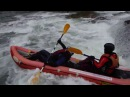 Katja Gedas kayaking on Prut in Carpathian mountains