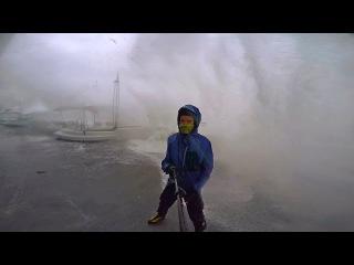 Шторм в Одессе 12.10.16 - Буря и ураган невиданной силы