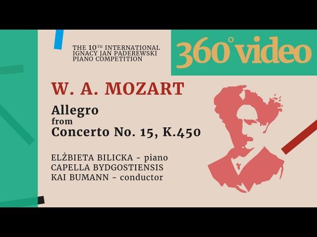 360 VIDEO - W. A. Mozart - Allegro from Piano Concerto No. 15, K. 450 - E. Bilicka (by Ros Media)