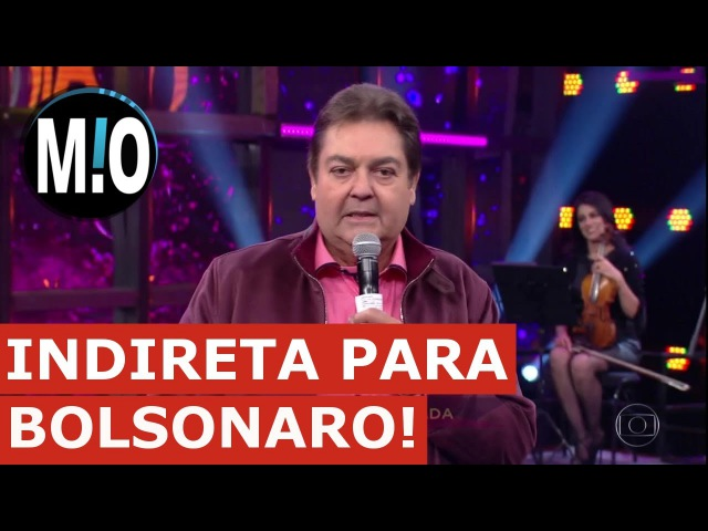 Faustão faz indireta a Bolsonaro Faustão critica seguidores de Bolsonaro no Domingão do Faustão