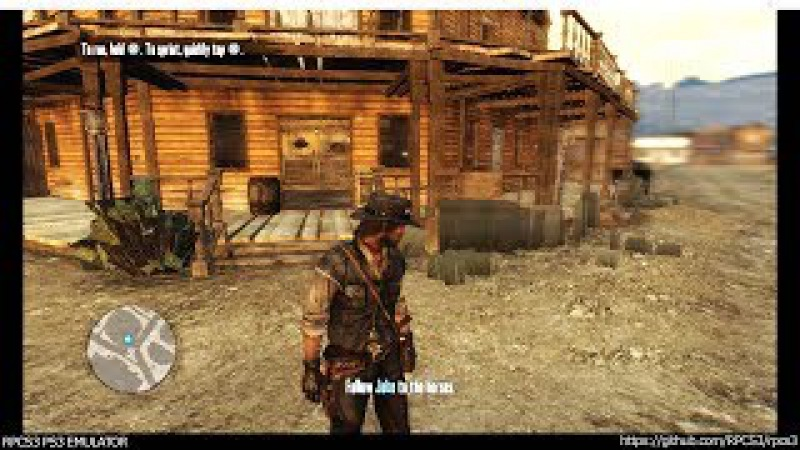 RPCS3 PS3 Emulator - Red Dead Redemption Ingame! VULKAN (WIP) LLVM