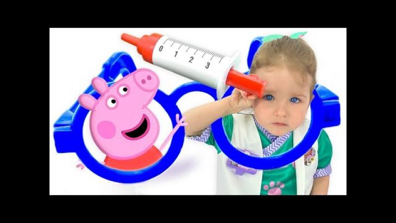 Свинка Пеппа ОБМАНУЛА Доктор Плюшева Лечит Peppa Pig Мультики из игрушек для малыше ...