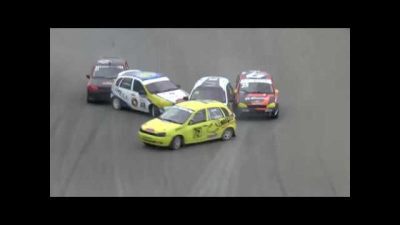 Авария на старте Чемпионат России по ралли-кроссу